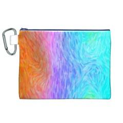 Abstract Color Pattern Textures Colouring Canvas Cosmetic Bag (XL)