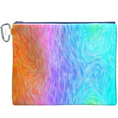 Abstract Color Pattern Textures Colouring Canvas Cosmetic Bag (XXXL)