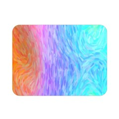 Abstract Color Pattern Textures Colouring Double Sided Flano Blanket (Mini)