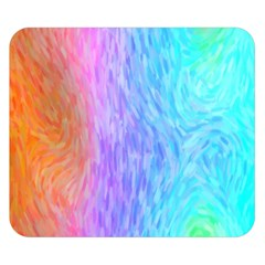 Abstract Color Pattern Textures Colouring Double Sided Flano Blanket (small)