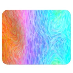 Abstract Color Pattern Textures Colouring Double Sided Flano Blanket (medium)