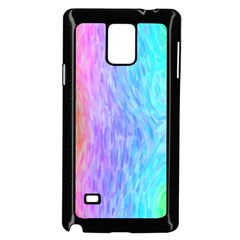 Abstract Color Pattern Textures Colouring Samsung Galaxy Note 4 Case (Black)