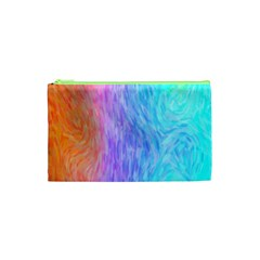 Abstract Color Pattern Textures Colouring Cosmetic Bag (XS)