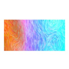 Abstract Color Pattern Textures Colouring Satin Wrap