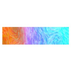 Abstract Color Pattern Textures Colouring Satin Scarf (Oblong)