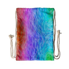 Abstract Color Pattern Textures Colouring Drawstring Bag (small)