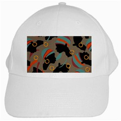 African Women Ethnic Pattern White Cap