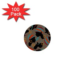 African Women Ethnic Pattern 1  Mini Buttons (100 Pack)