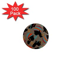 African Women Ethnic Pattern 1  Mini Magnets (100 Pack)