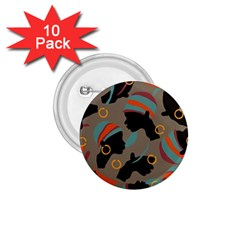 African Women Ethnic Pattern 1.75  Buttons (10 pack)