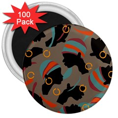 African Women Ethnic Pattern 3  Magnets (100 Pack)