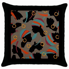 African Women Ethnic Pattern Throw Pillow Case (black)