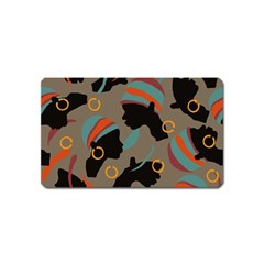 African Women Ethnic Pattern Magnet (name Card)