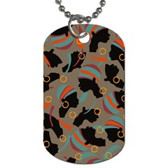 African Women Ethnic Pattern Dog Tag (One Side)