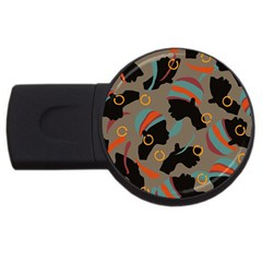 African Women Ethnic Pattern Usb Flash Drive Round (2 Gb)