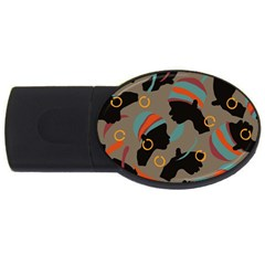 African Women Ethnic Pattern Usb Flash Drive Oval (2 Gb)