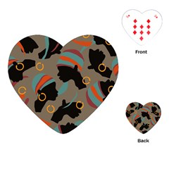 African Women Ethnic Pattern Playing Cards (Heart)