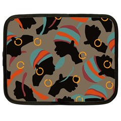 African Women Ethnic Pattern Netbook Case (large)
