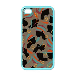 African Women Ethnic Pattern Apple iPhone 4 Case (Color)