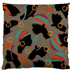 African Women Ethnic Pattern Large Cushion Case (One Side)