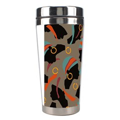 African Women Ethnic Pattern Stainless Steel Travel Tumblers