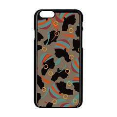 African Women Ethnic Pattern Apple iPhone 6/6S Black Enamel Case