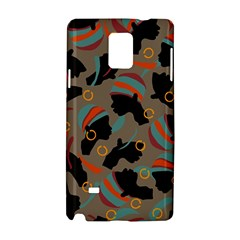 African Women Ethnic Pattern Samsung Galaxy Note 4 Hardshell Case
