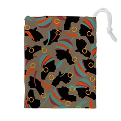 African Women Ethnic Pattern Drawstring Pouches (extra Large)