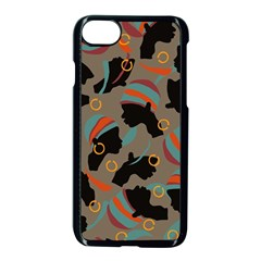 African Women Ethnic Pattern Apple Iphone 7 Seamless Case (black)