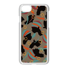 African Women Ethnic Pattern Apple Iphone 7 Seamless Case (white)