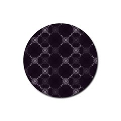 Abstract Seamless Pattern Rubber Round Coaster (4 Pack)