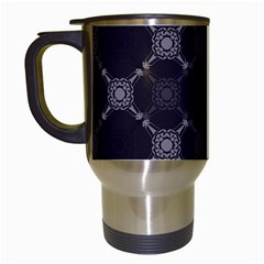 Abstract Seamless Pattern Travel Mugs (white)