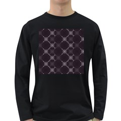 Abstract Seamless Pattern Long Sleeve Dark T-Shirts