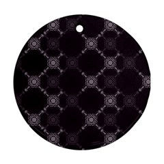 Abstract Seamless Pattern Round Ornament (two Sides)