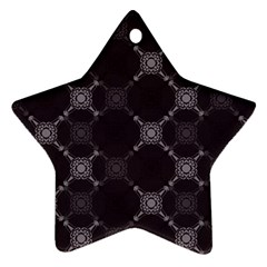 Abstract Seamless Pattern Star Ornament (two Sides)