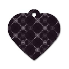 Abstract Seamless Pattern Dog Tag Heart (one Side)