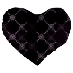 Abstract Seamless Pattern Large 19  Premium Flano Heart Shape Cushions