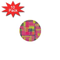 Abstract Pattern 1  Mini Buttons (10 Pack)