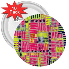 Abstract Pattern 3  Buttons (10 pack)