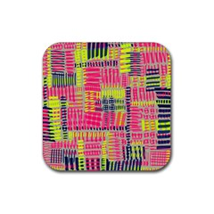 Abstract Pattern Rubber Square Coaster (4 pack)