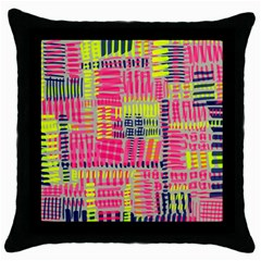 Abstract Pattern Throw Pillow Case (black)