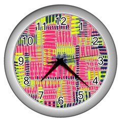 Abstract Pattern Wall Clocks (Silver)