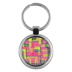 Abstract Pattern Key Chains (Round)