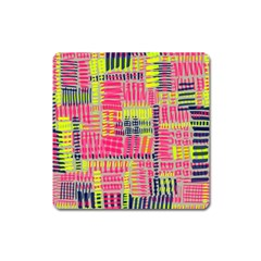 Abstract Pattern Square Magnet