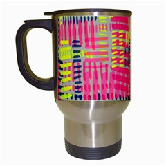 Abstract Pattern Travel Mugs (white)