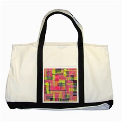 Abstract Pattern Two Tone Tote Bag