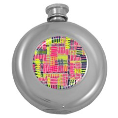 Abstract Pattern Round Hip Flask (5 oz)