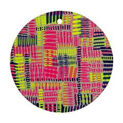 Abstract Pattern Round Ornament (Two Sides)