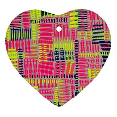 Abstract Pattern Heart Ornament (two Sides)