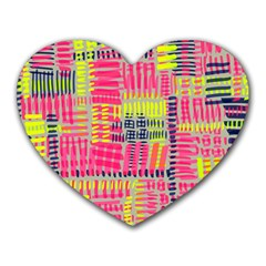 Abstract Pattern Heart Mousepads